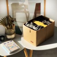 Органайзер для вещей, полотенец и постельного белья 30х19х17 см (Бежевый)