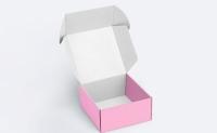Подарочная коробка розовая 21,5х22,5х11 см