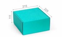Подарочная коробка мятная 21,5х22,5х11 см