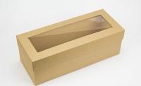 Подарочная коробка для бутылки Крафт 33х14х12 см