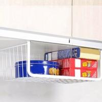Фото Дополнительный подвесной органайзер, полка для кухни (белый)