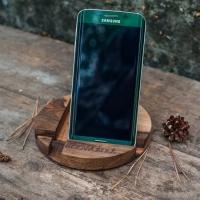 Фото4 Подставка для телефона из дерева Круг