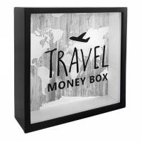 Фото Деревянная копилка для денег Travel money box (самолет)