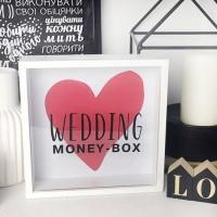 Фото Деревянная копилка для денег Wedding money-box