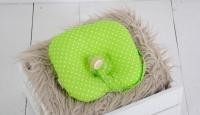 Фото Детская подушка для новорожденных с держателем Green