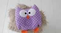 Детская подушка игрушка для новорожденных Совушка Purpule