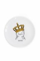 Фото Детская тарелка Котёнок в короне