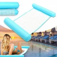 Водный надувной матрас-гамак сетка 108х60 см (Голубой)