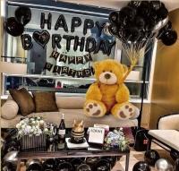 Фото Набор воздушных шаров для фото на день рождения Happy Birthday (черный)