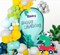 Фото Набор воздушных шаров для фото на день рождения Динозавр