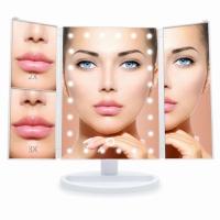 Зеркало косметическое тройное с LED подсветкой (белый)