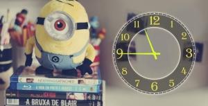 Часы на холсте Миньон 25х50
