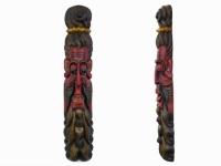 Этническая маска Бхуванеш 100 см красная