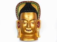 Этническая маска Будда 36 см золото