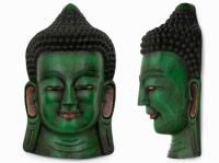 Этническая маска Будда 55 см зеленая