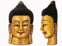 Этническая маска Будда 55 см золото