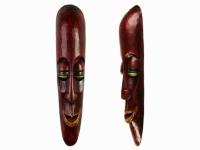 Этническая маска Камадев 37 см красный