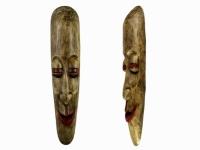 Этническая маска Камадев 37 см слоновая кость