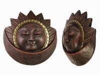 Этническая маска Солнце и Месяц 19 см