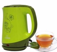 Электрический чайник с рисунком CB 2842 (зеленый)