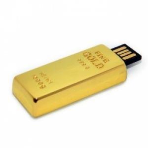 Флешка 8gb металл Слиток золота