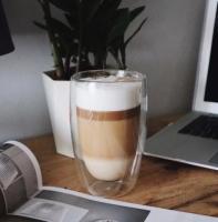 Стакан для латте, кофе с двойным дном 400 мл
