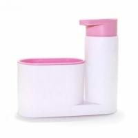 Органайзер кухонный для моющего средства и губки Sink tidy sey (розовый)