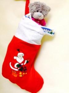 Рождественский носок с рисунком