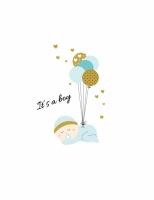 Постер It is boy 30х40 см