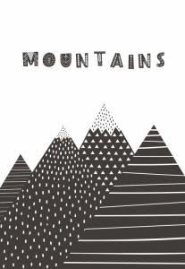 Постер Mountains 30х40 см