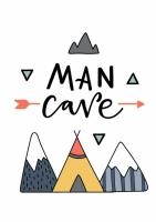 Постер Man Cave 30х40 см