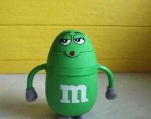 Термос детский с трубочкой M&Ms (Зеленый)