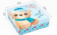 Подарочная коробка Сказочно извне 18х18х6 см (Голубой)