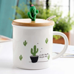 Керамическая чашка Кактус