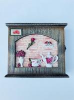Ключница настенная чайная Роза