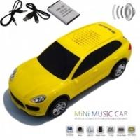 Колонка - Машинка Porsche Cayenne (колонка, плеер mp3, радио) желтая