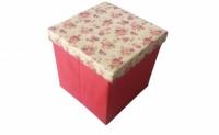 Короб складной многофункциональный с емкостью для хранения Красные Цветы