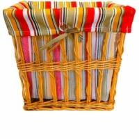 Корзина плетеная для белья Яркая Линия 30х23 см