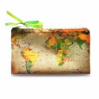 Косметичка Карта коричневая