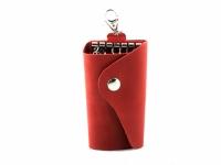 Кожаная Ключница London Red