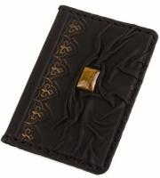 Кожаная Обложка на паспорт с камнем Тигровый Глаз