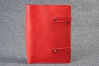 Кожаная папка скоросшиватель для документов Red