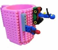 Фото Кружка Lego брендовая 350мл Pink