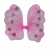 Крылья Бабочки с сердечками (розовые) 32х36см