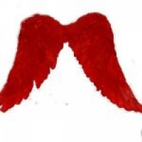 Крылья Амура большие 60х70  (красные)