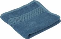 Махровое гладкокрашенное полотенце голубое 70х140 см