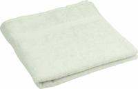Махровое полотенце белое гладкокрашеное 50х90