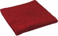 Махровое полотенце бордовое 40х70