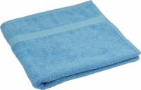 Махровое полотенце голубое гладкокрашеное 50х90