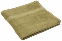 Махровое полотенце кофейное гладкокрашеное 50х90